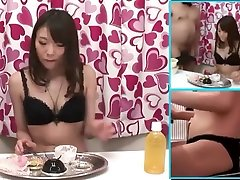 Japanese small boobs feed Stuffer Gets Fucked