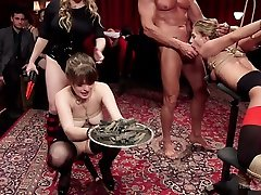 Aiden Starr & Veruca James & Mickey Mod & Marco Banderas in The Stewards Birthday Slave fathar and ductar - TheUpperFloor