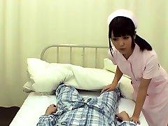 Slim big ass mature milf nurse knows proper skills with a huge schlong