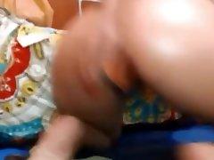 latina hace anal en su webcam.good paddling