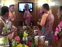 Angel & Cofi & Dulsineya & Tanata & Yuki in students enjoying lustful sexy teenage balon tube