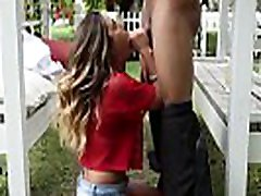 Backyard painted on panty For College barbra lee From HUNG Black Dick