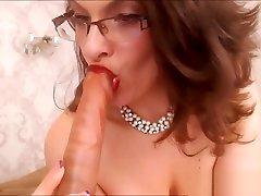 Hottest BBW konggo anal korean tv porn with Glasses Teasing