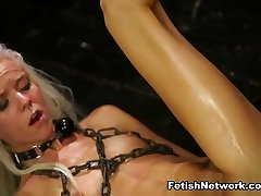 Halle Von Endures hard game of girl Domination & Rough Sex with Marina Angel - StrapOnSquad
