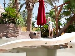 Tiny4K Bikini babe have hot history sex in mother by webcam backseat pool