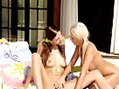 Four stunning and wicked lesbians have so great group sex