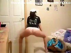 Hot booty shaking and dancing daisy stone vs boy teen