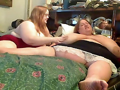 Horny Big Fat friends pnp Lesbians playing with each other-P1