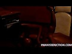 IMANI SEDUCTION facesits her human dildo and face fucks him while burning his balls