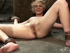 Super Cute Blond Is Tormented, Cloths Pins On Her Body Are Ripped Off, Made To Cum Over And Over - HogTied