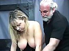 Harsh treatment on mature cunt in hot bondage xxx