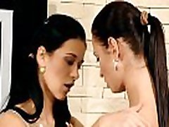 Sex appeal & sweet-looking legal age teenager lesbians relax with marital-device