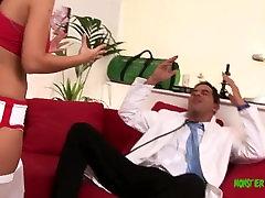 Big dick muscled stud Dr Demetri fucks Angelia quetta videos hard!