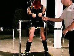 Teats torture with woman in need for supplementary bdsm