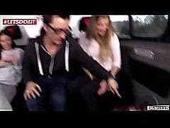 Stunning twins get wild fuck on the road in Berlin Silvia Dellai, Eveline Dellai