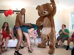Wild Sluts Pin the Junk on the Hunk on DancingBear.com! db9114