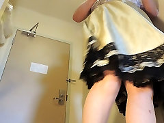 Sissy Ray in Skirt and Petticoat Upskirt Twirling