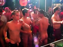 Man harlots having the wildest night at a crazy homo party