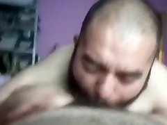 Bearded august ames and mike sucks hairy dick