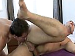 Gorgeous stud is delighting twink with wild blowjobs