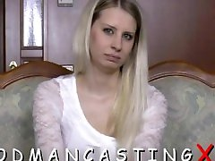 Amateur girl strips at a casting