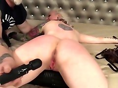 busty porcelain blond loves bound stock and sex punishment