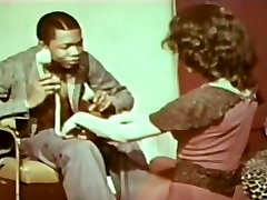 Terri Hall 1974 Interracial Classic meth small tube Loop USA White Woman Black Man