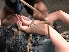 Bdsm Sub Whipped While Being Suspended