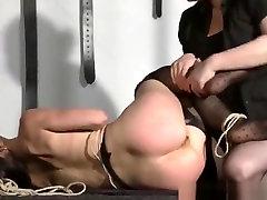 BBW tortures skinny girl