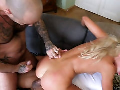 Ardent big bottomed blondie Victoria xxx tamanna hot videos takes hardcore double penetration