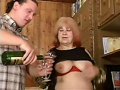 BBW Hairy Granny With Big Boobs Gets Fuck With Facial