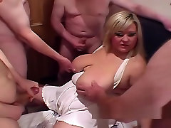 Chubby and fat girl missionary cumshot compilation
