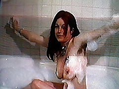 hairy hippy takes a bubble bath
