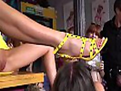 Bare breasts teen disgraced in public