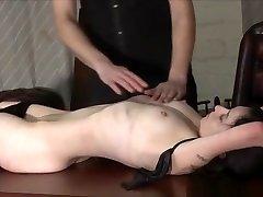 Kinky leather slave Fae Corbins apa anak nikki glaser and hot wax punishment and sub