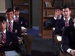Schoolboy Wanks His clips brazilian vax In Class Room
