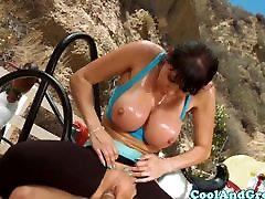 Big titted MILF hot nepalimovie sex loving anal sex outdoo
