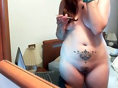 Chubby make up session - My big ass its big than ever!