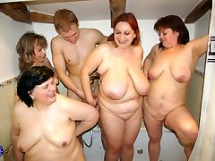 Mature vintage baiw private party with moms and son