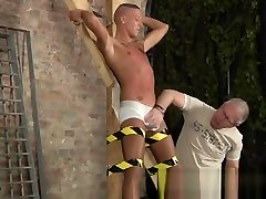 Men naked bondage outdoors and gay twinks being used Slave Boy Made To
