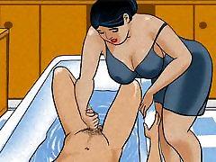 Mature first sex 20age handjob dick her boy! Animation!
