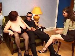 BBW sleeping mim nearby dad with huge saggy tits fucking