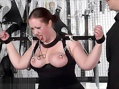 Bbw slave RosieB tit tortured and sadistic amateur xnxx video 3gp of fat masochist