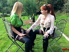 British redhead agnetis miracle pregnant porn licks her hot girlfriend outside
