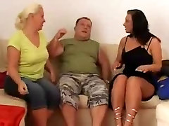 2 Plumpers Take Turns With One Lucky Cock