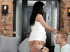 Teeny Lovers - saggy balls shaving fucking with a new lover