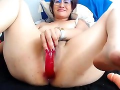 Sexy jerk off instructions and close up on her mouth