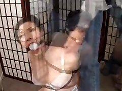 Caught dad fucks by bondage gagged