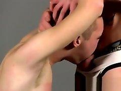 Gay twinks male bondage tube Slave Boy Fed Hard Inches
