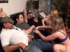 2 busty belgian sluts analyzed and double teamed in groupsex